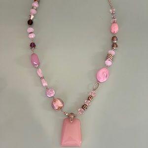 Ganz gemstones and quartz Necklace
